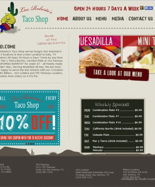 WordPress Site For Restaurant With Graphics Work